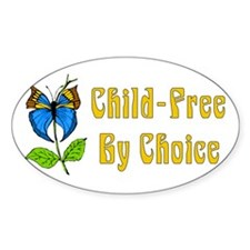 Child-Free By Choice Oval Decal