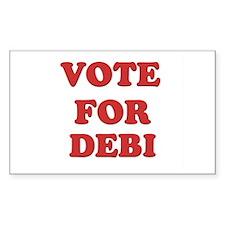 Vote for DEBI Rectangle Decal