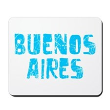Buenos Aires Faded (Blue) Mousepad