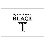 Black T Large Poster