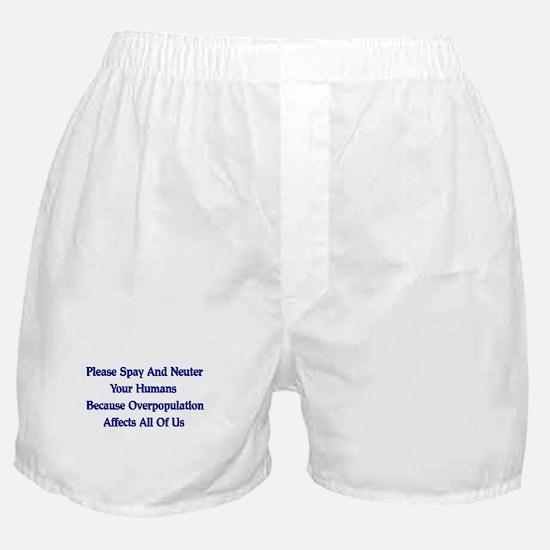Spay And Neuter Boxer Shorts