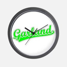 Retro Garland (Green) Wall Clock