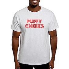 Retro Puffy Cheeks (Red) T-Shirt