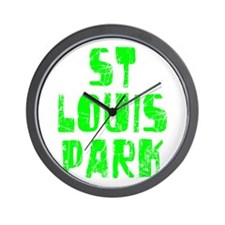 St Louis Park Faded (Green) Wall Clock