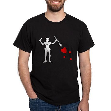 Blackbeard Jolly Roger Dark T-Shirt