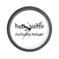 Daddy's Little Purchasing Manager Wall Clock