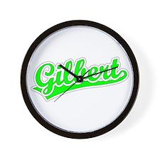 Retro Gilbert (Green) Wall Clock
