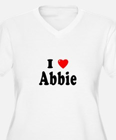 ABBIE Womes Plus-Size V-Neck T-Shirt