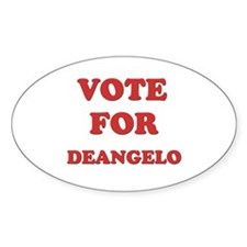 Vote for DEANGELO Oval Decal