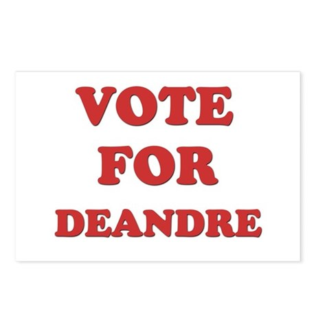 Vote for DEANDRE Postcards (Package of 8)