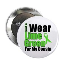 "Lime Green Cousin 2.25"" Button"