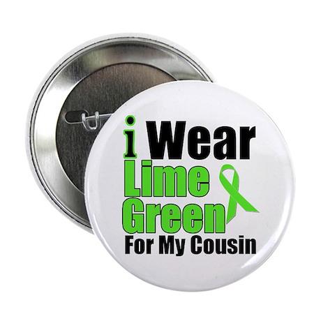 "Lime Green Cousin 2.25"" Button"