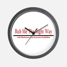 Rub Me The Right Way! Wall Clock