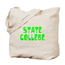 State College Faded (Green) Tote Bag