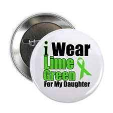 """Lime Green Daughter 2.25"""" Button"""