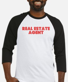Retro Real estate.. (Red) Baseball Jersey