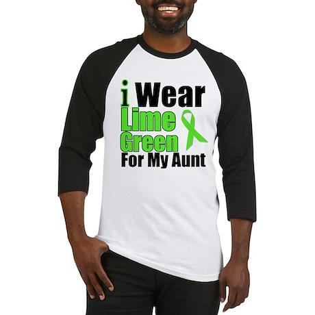 Lime Green Aunt Baseball Jersey