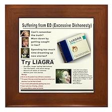 Liagra (Anti-Hillary) Framed Tile