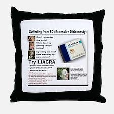 Liagra (Anti-Hillary) Throw Pillow