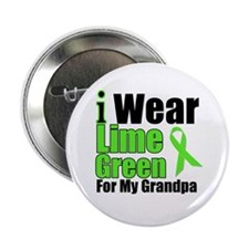 """Lime Green Grandpa 2.25"""" Button (10 pack)"""
