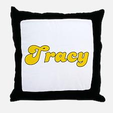 Retro Tracy (Gold) Throw Pillow