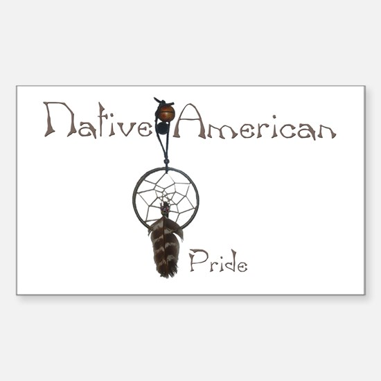 Native American Pride Rectangle Decal