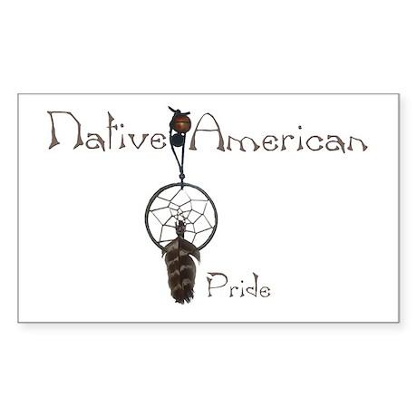 Native American Pride Rectangle Sticker