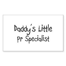 Daddy's Little Pr Specialist Rectangle Decal