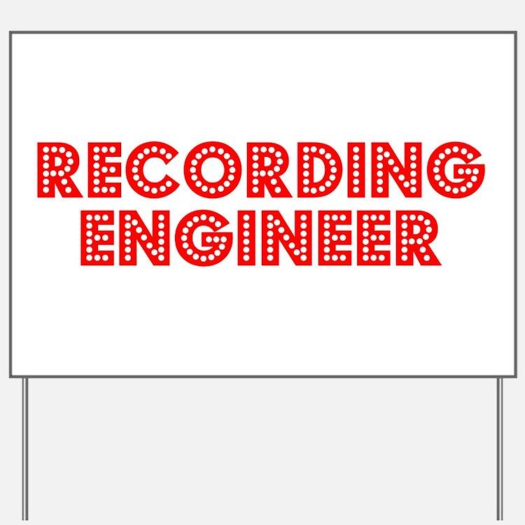 Retro Recording e.. (Red) Yard Sign