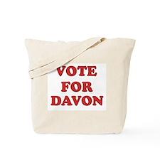 Vote for DAVON Tote Bag