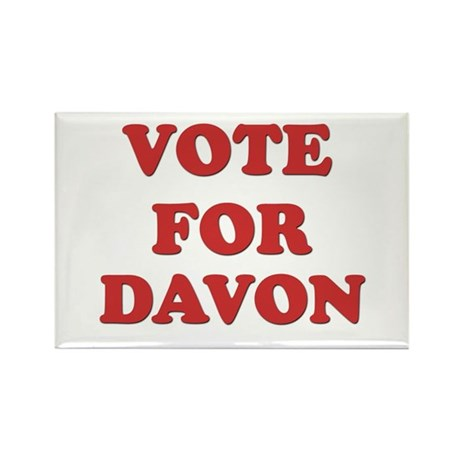 Vote for DAVON Rectangle Magnet