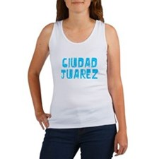Ciudad Juarez Faded (Blue) Women's Tank Top