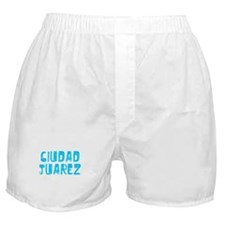 Ciudad Juarez Faded (Blue) Boxer Shorts