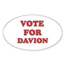 Vote for DAVION Oval Decal