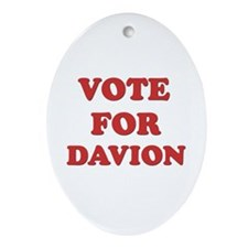Vote for DAVION Oval Ornament