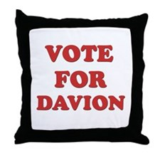 Vote for DAVION Throw Pillow