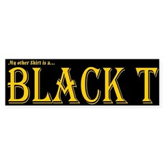 Black T Bumper Sticker (50 pk)