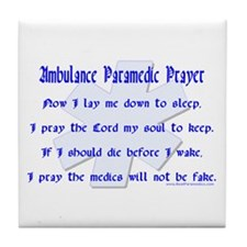 Ambulance Paramedic Prayer Tile Coaster