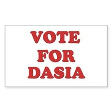 Vote for DASIA Rectangle Decal