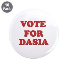 "Vote for DASIA 3.5"" Button (10 pack)"