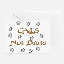 Cats Not Brats Greeting Cards (Pk of 10)