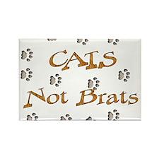 Cats Not Brats Rectangle Magnet