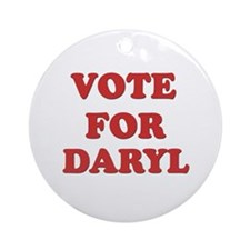 Vote for DARYL Ornament (Round)