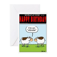 Mobile Cows Greeting Card