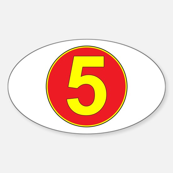 Mach 5 Oval Decal