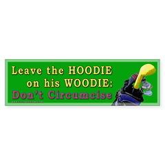 Woodie-Hoodie Bumper Sticker (10 pk)