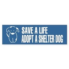 Adopt A Dog Blue Bumper Bumper Sticker