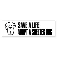 Adopt A Dog Bumper Bumper Sticker