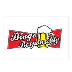 Binge Responsibly Postcards (Package of 8)