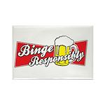 Binge Responsibly Rectangle Magnet (100 pack)